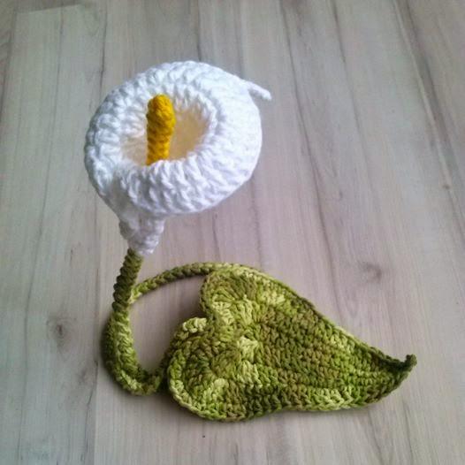 flores de crochê copo de leite