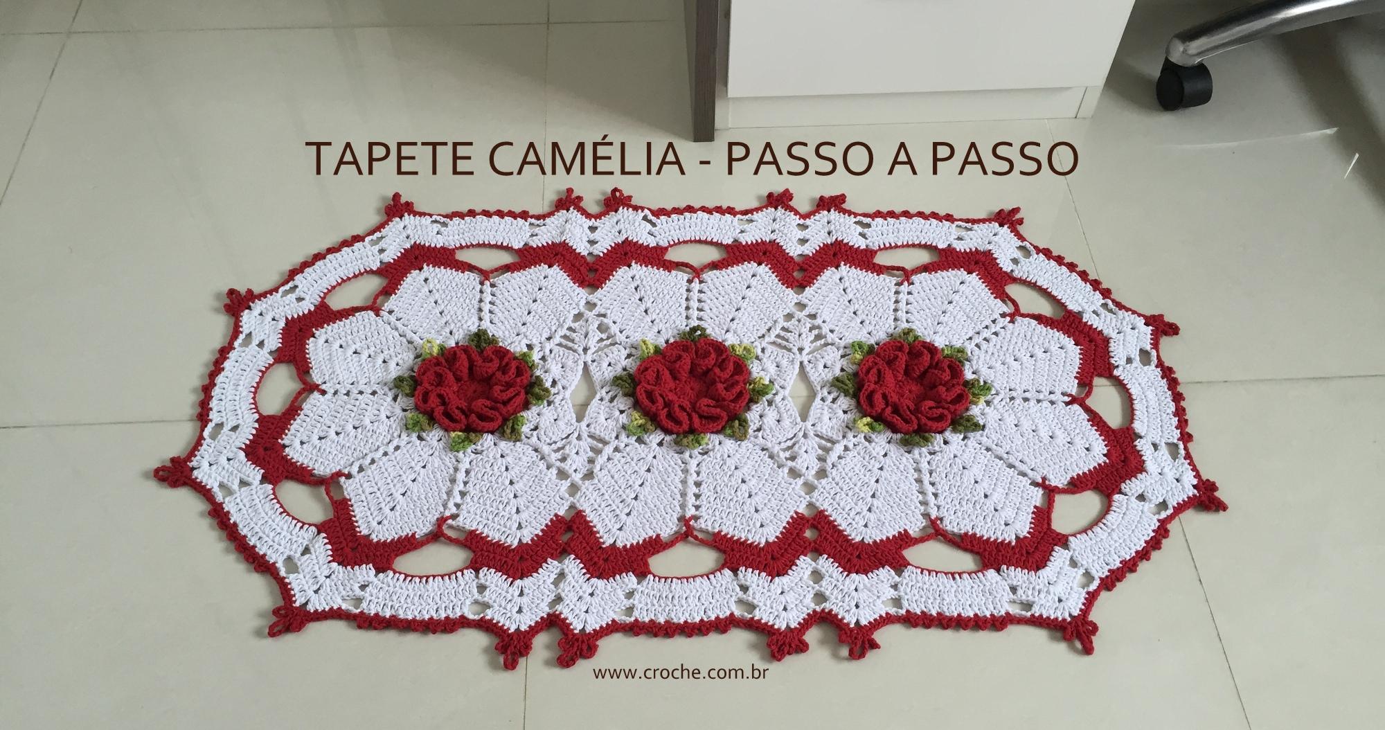 Flores De Croch Veja 30 Modelos Com Passo A Passo -> Tapete De Croche Oval Simples Passo A Passo