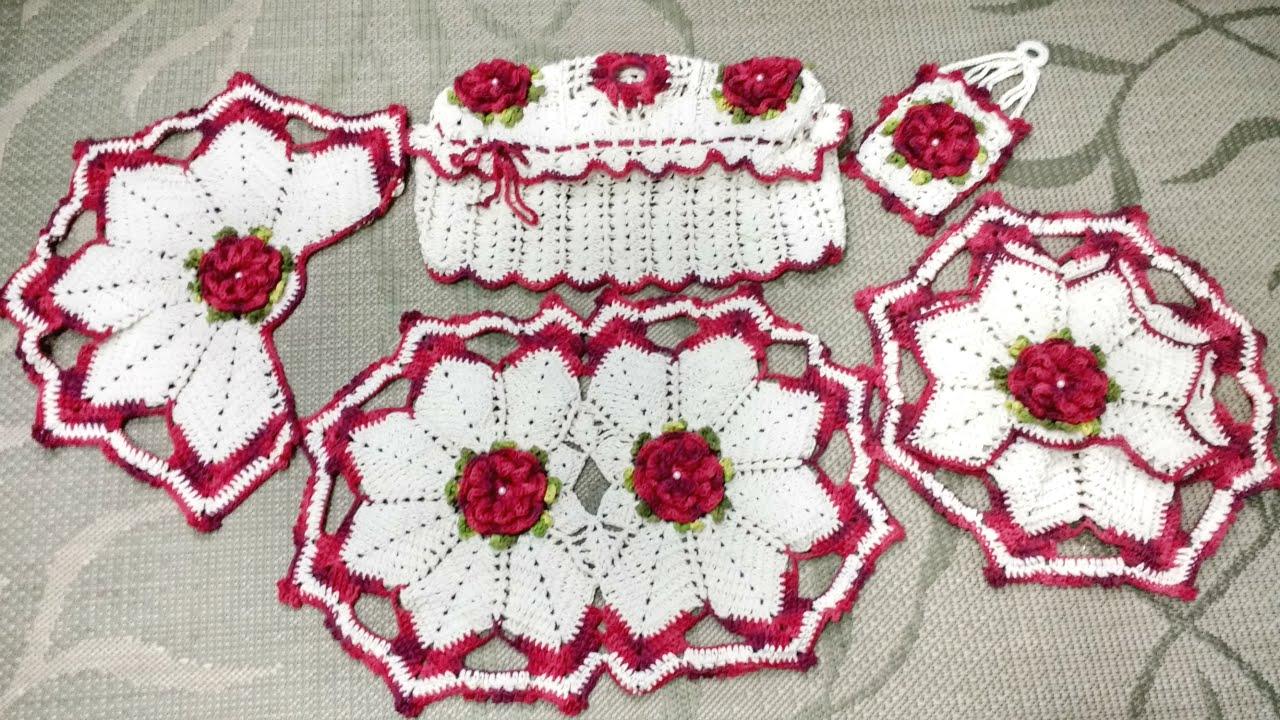 Flores De Croch Veja 30 Modelos Com Passo A Passo -> Fotos De Tapete De Croche