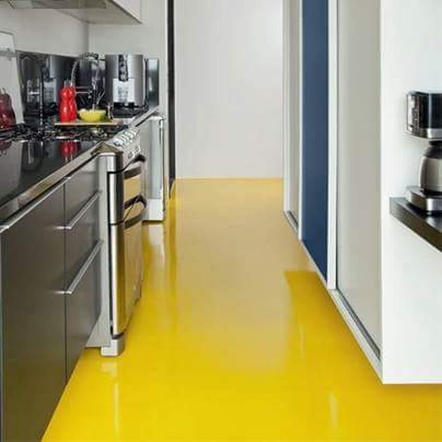 Porcelanato liquido amarelo