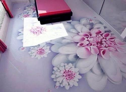 porcelanato liquido com flores