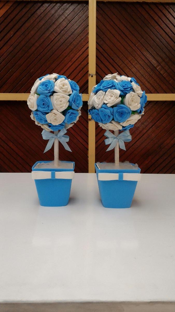 flores de eva azul e branca