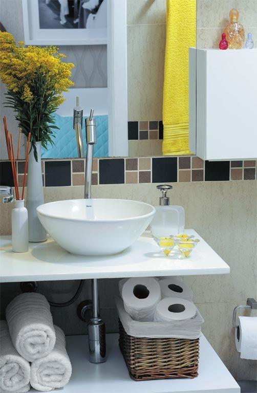 Banheiros Pequenos 160 Modelos e Dicas Para Decorar Lindamente! -> Decoração De Banheiro Simples E Barato