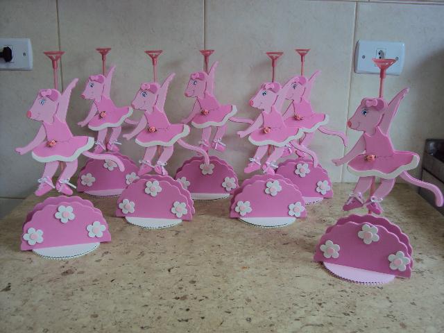Arranjos de mesa bailarina