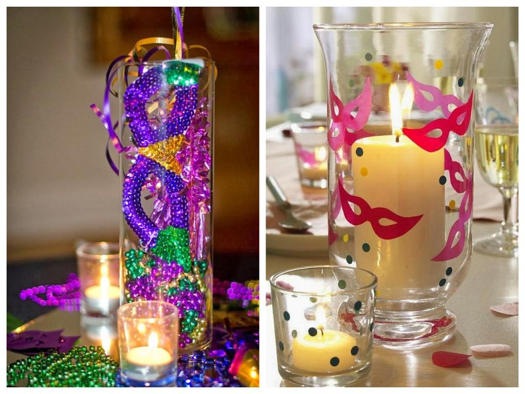 Arranjos de mesa festa a fantasia coloridos