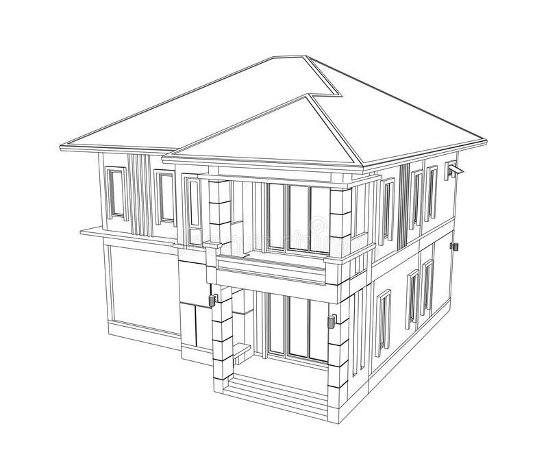 Desenho de casas