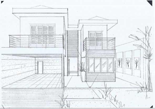 Desenho de casass