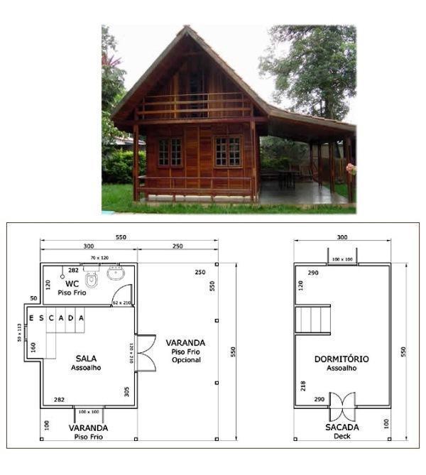 Plantas de casas de madeira