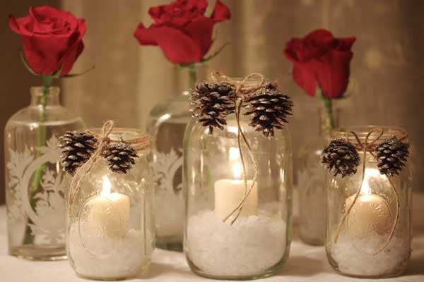 arranjos de mesa de natal simples
