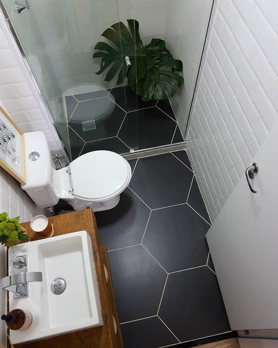 Banheiros pequenos 160 modelos e dicas para decorar - Materiel pour carrelage ...