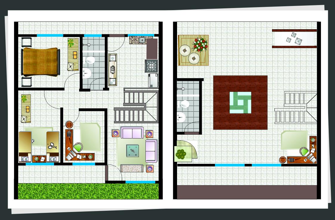 plantas de casas com ático