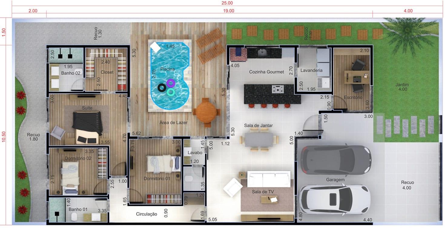 plantas de casas com piscinaa