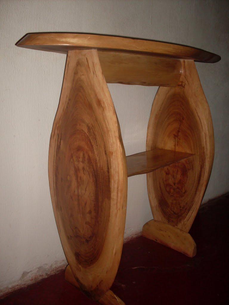 Artesanato em madeira de eucalipto