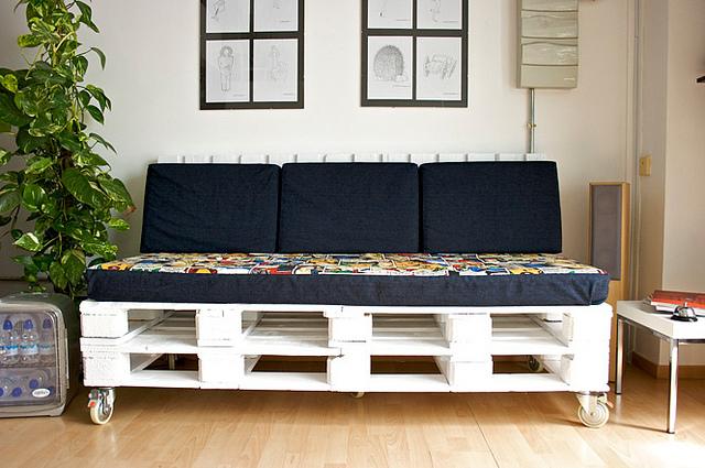 Artesanato em madeira de paletes sofa
