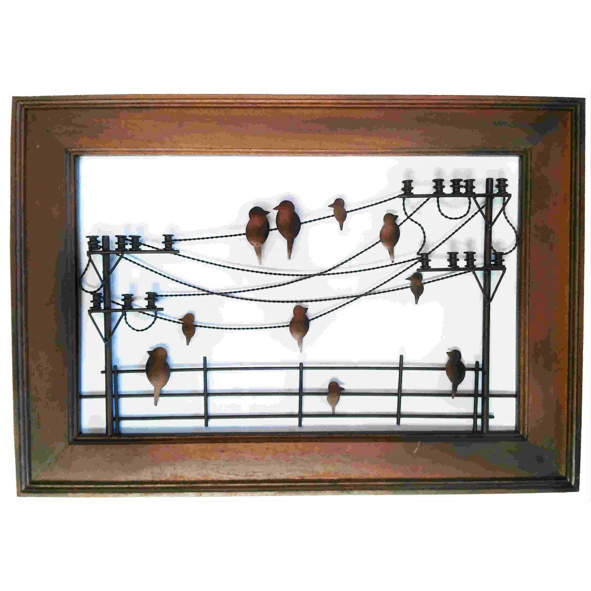 Artesanato em madeira e ferro passarinhos