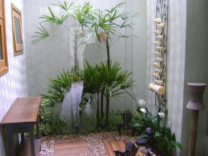 Jardins pequenos artificiais