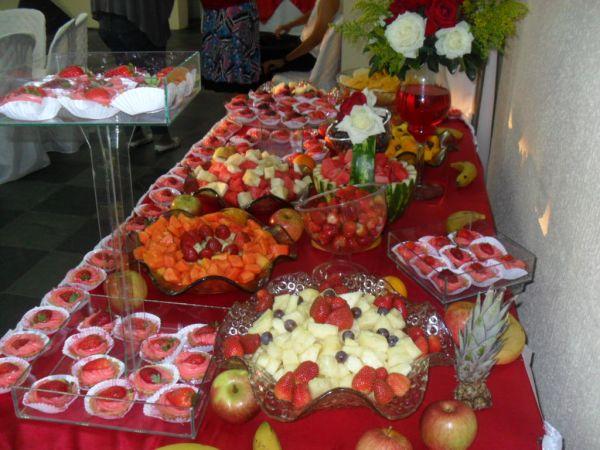 Mesa de frutas buffet