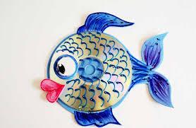 Peixe decorativo feito com cd totalmente reciclado