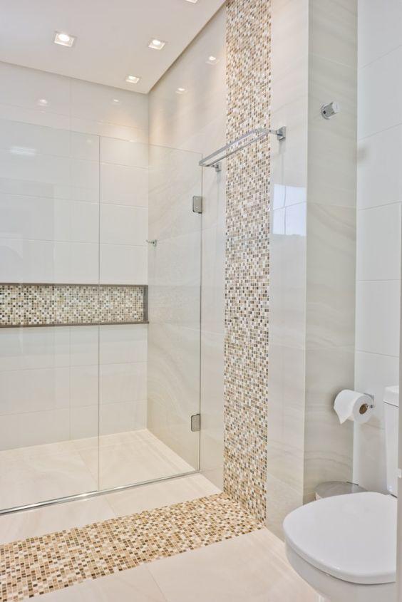 Revestimento para banheiro 40 modelos saiba escolher o for Modelos de ceramicas para banos pequenos