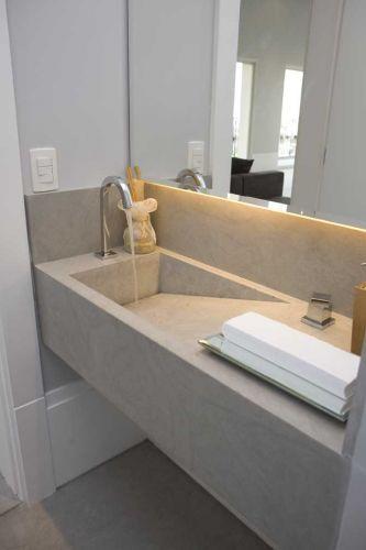 Revestimento para banheiro  40 Modelos, Saiba Escolher o Melhor -> Pia De Banheiro Porcelana