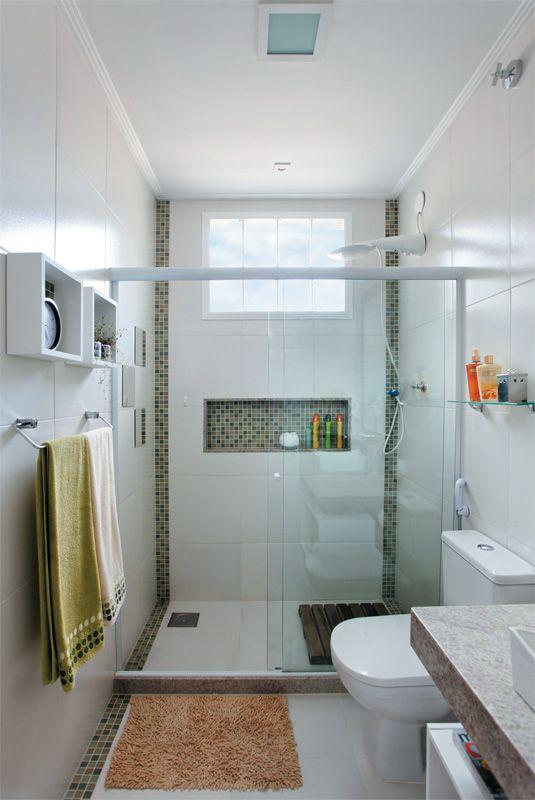 Revestimento para banheiro  40 Modelos, Saiba Escolher o Melhor -> Banheiro Simples Com Planta