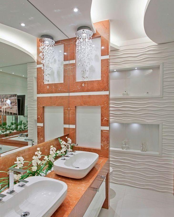 Revestimento para banheiro 3d