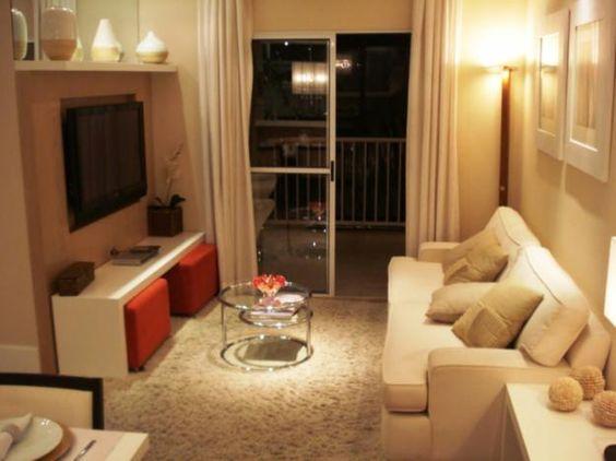 Decora o de sala pequena 85 modelos lindos para voc se for Decorar casa 45 m2