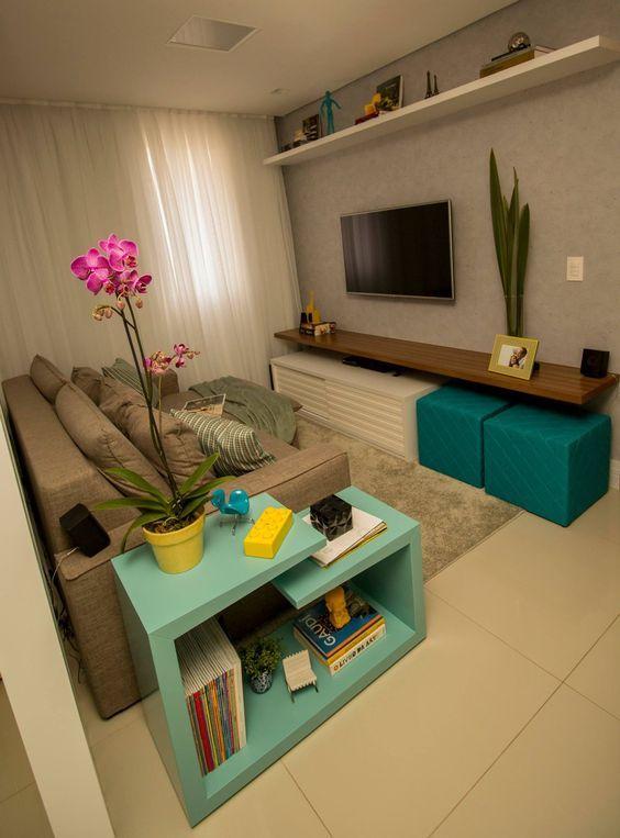 Decora o de sala pequena 85 modelos lindos para voc se for Decoracao de sala de estar 2018
