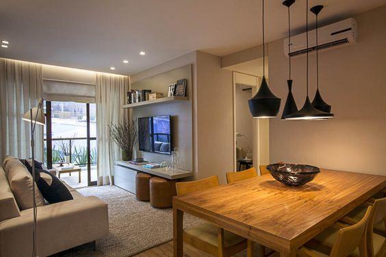 Decora o de sala pequena 85 modelos lindos para voc se for Mesa de cafe pequena sala de estar
