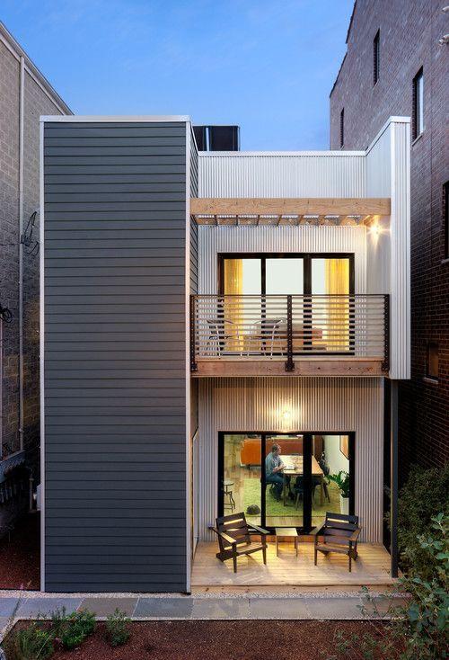 Casa de dois andares e fachada minimalista dcore voc for Fachada apartamentos pequenos
