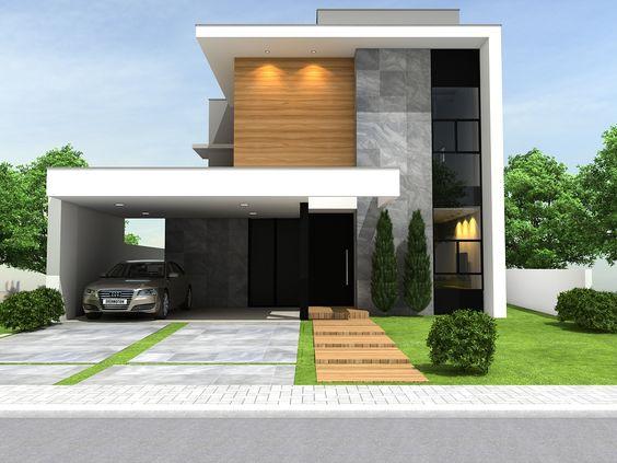 Fachadas de casas os modelos mais incr veis para for Casa minimalista contemporanea
