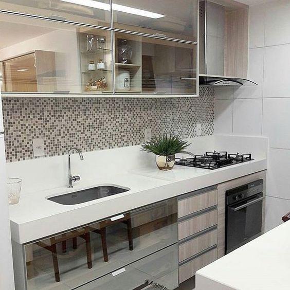 Cozinhas modernas veja de 100 modelos incr veis e lindos for Armarios para cocinas pequenas