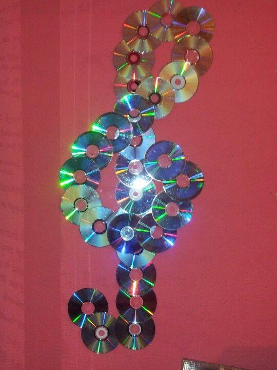 Decoração Com Cd ~ Artesanato com CD Veja Mais de 130 Ideias e Passo a Passo
