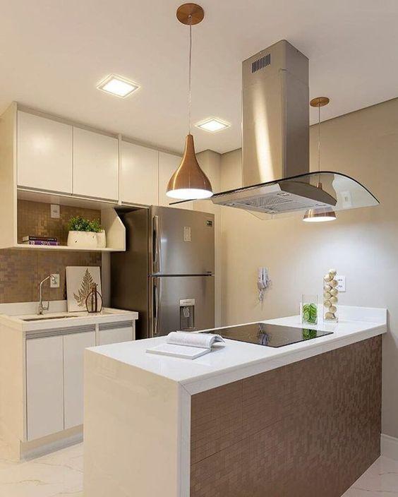 Cozinhas modernas veja de 100 modelos incr veis e lindos for Casas pequenas e modernas 2017