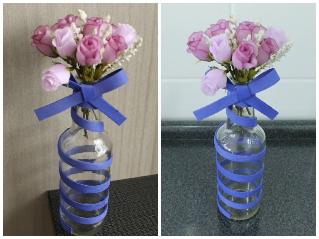 garrafas decoradas com eva