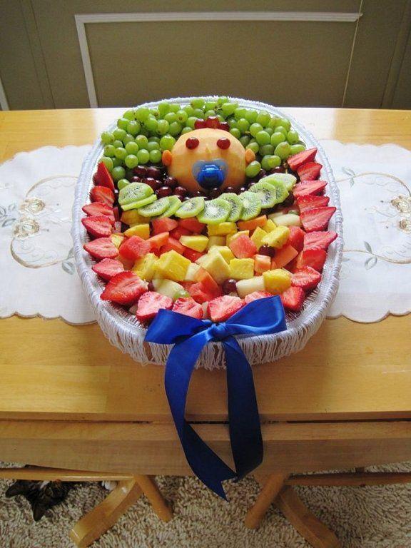 mesa de frutas baby shower