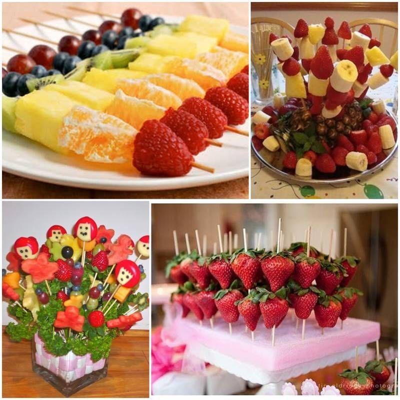 mesa de frutas para batizadoo