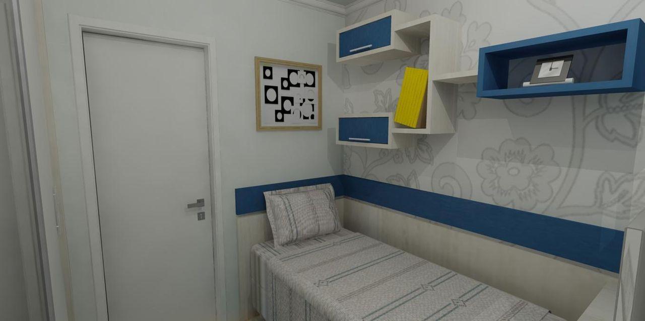 nichos para quarto azul