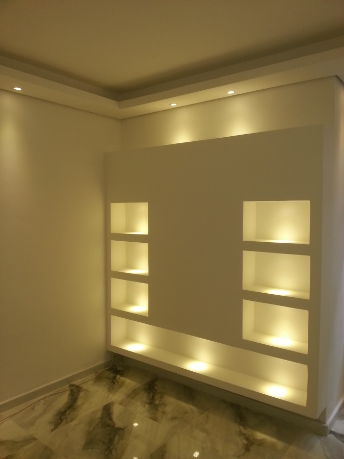 nichos para quarto em drywall