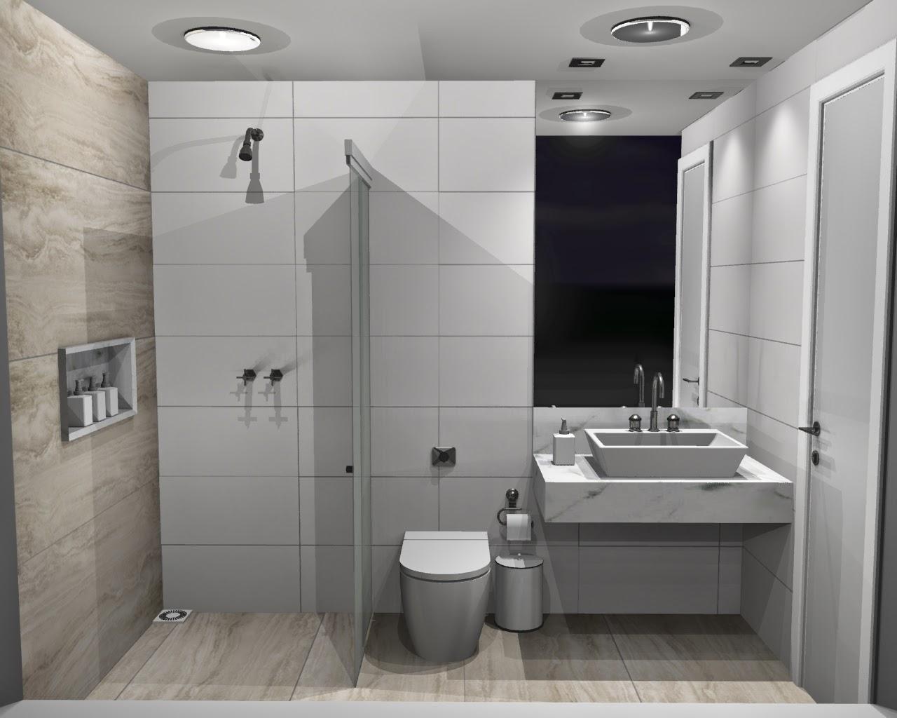 revestimento para banheiro acetinado