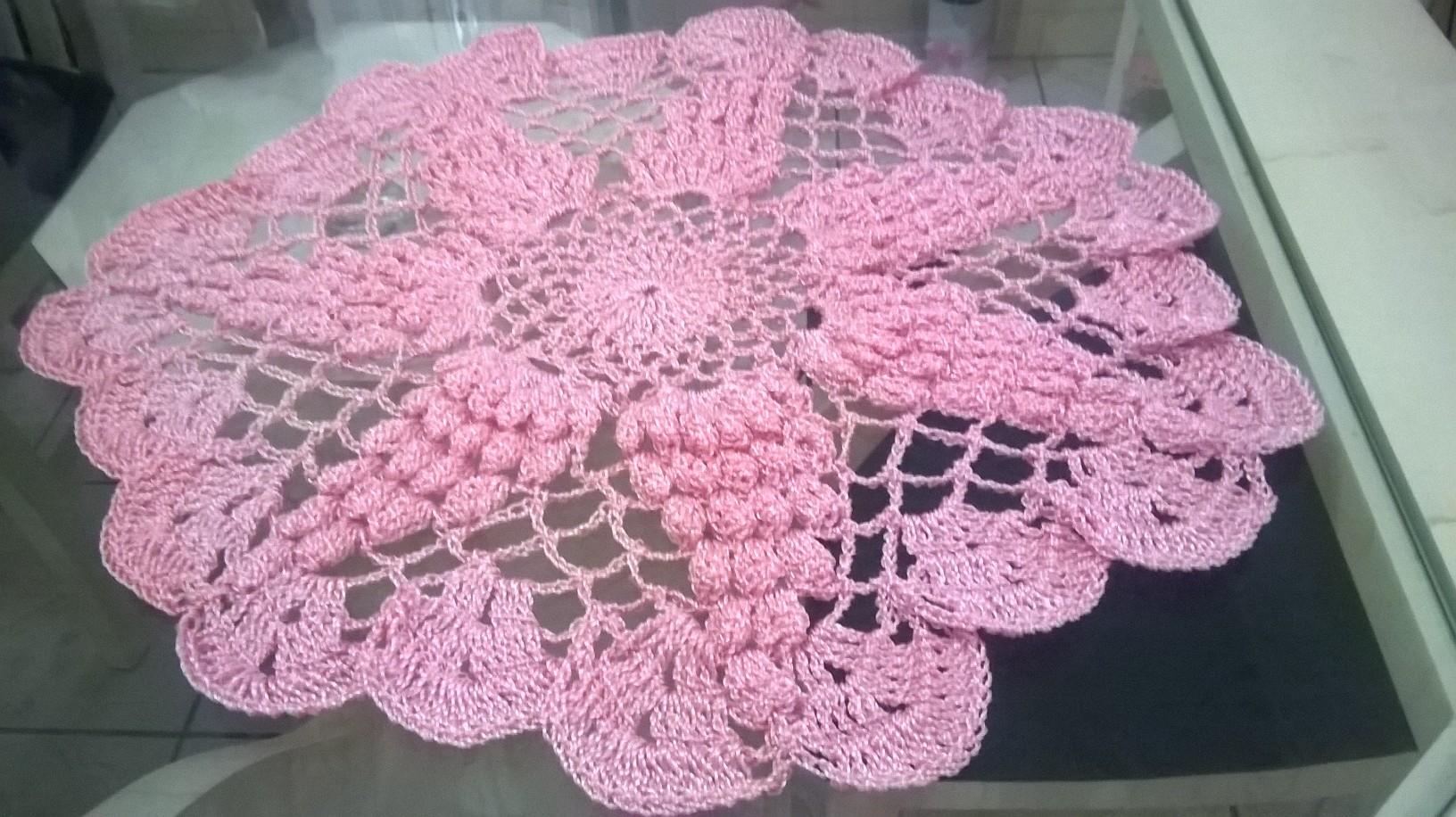 Toalha De Croch 105 Lindos Modelos E Passo A Passo -> Tapete De Croche Oval Simples Passo A Passo