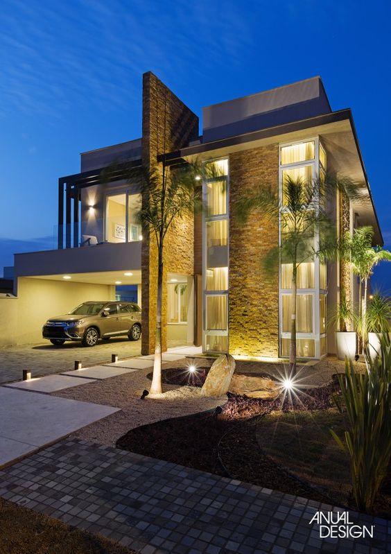 Fachadas de sobrados veja 110 modelos modernos e lindos for Fachadas contemporaneas para casas