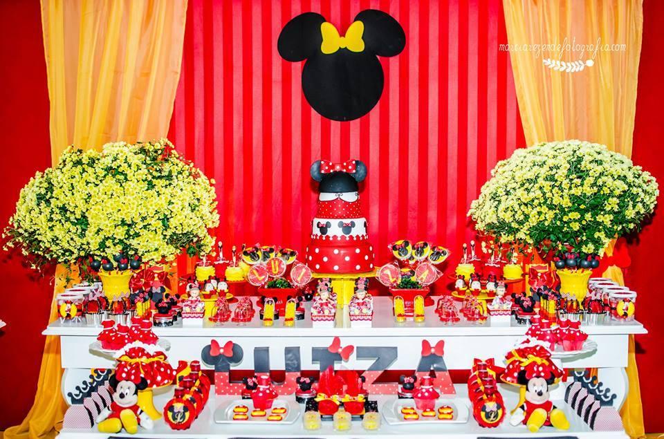 100 Modelos de Decoraç u00e3o da Festa da Minnie Para se Inspirar -> Decoraçao De Festa Da Minnie Vermelha Simples