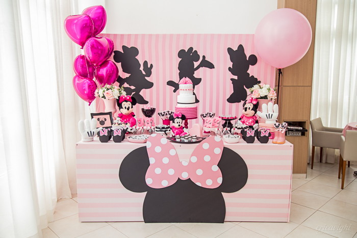 Festa Da minnie rosa e doces