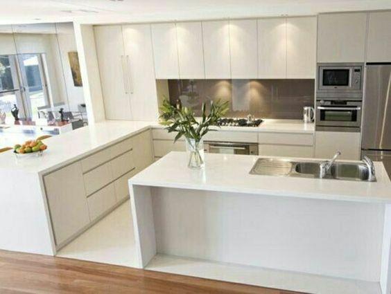 cozinha com ilha central mais de 125 modelos de projetos lindos. Black Bedroom Furniture Sets. Home Design Ideas