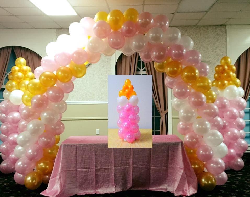decoração com balões cha de bebe