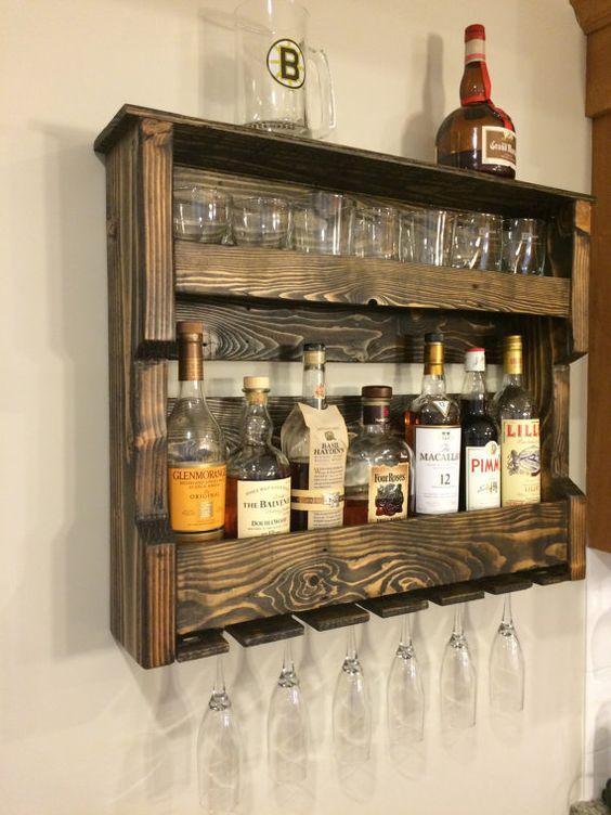 Bar de parede veja mais de 60 modelos para voc fazer for Bar de madera para sala