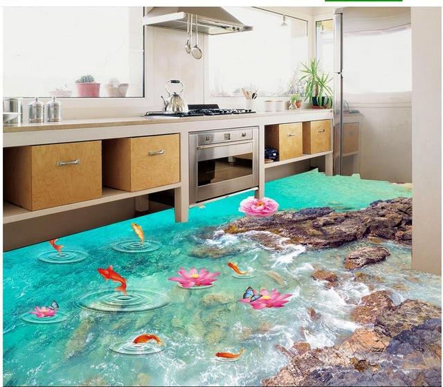 Piso para cozinha saiba qual usar com dicas e 60 modelos for Pisos decorativos 3d