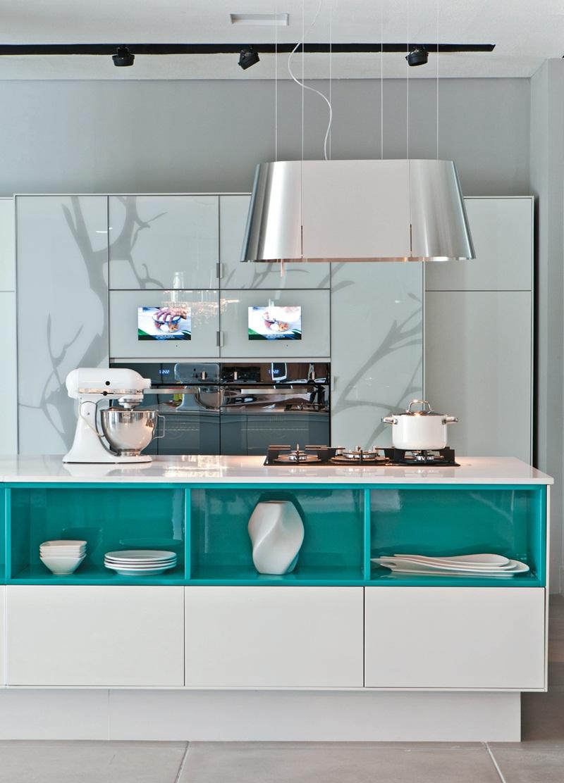 Cozinha Azul Veja Mais De 70 Modelos Para Renovar Sua Cozinha -> Decoracao De Sala Azul Marinho