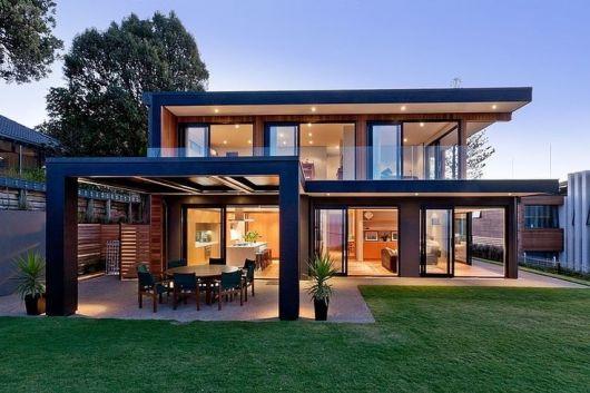 Telhado embutido mais de 70 modelos para se inspirar for Casas modernas de 70m2
